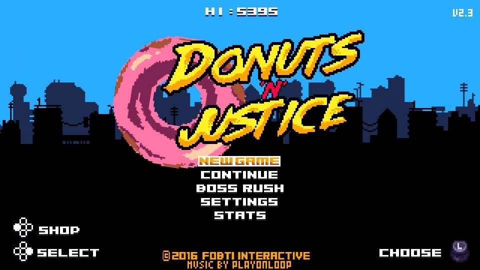 menu principal donuts n justice