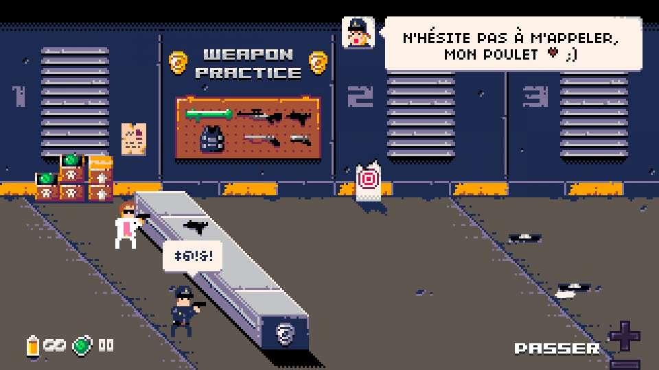 instructrice tutoriel gameplay stand de tir