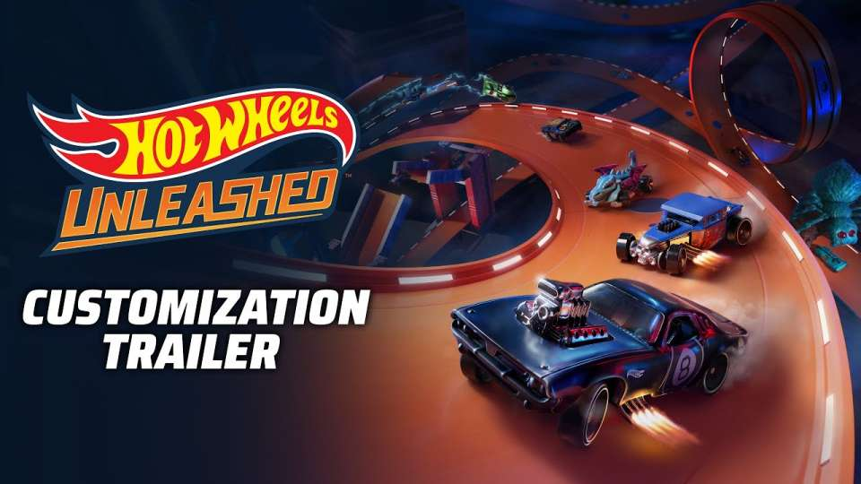 Hot Wheels Unleashed montre son trailer personnalisation (éditeur de livrée et sous-sol)