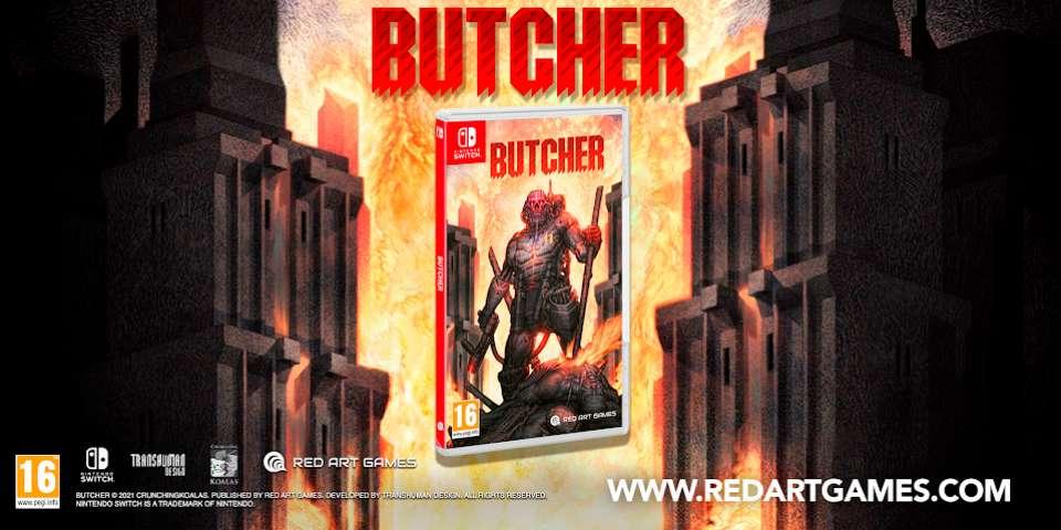 BUTCHER vient trancher dans le vif sur Switch en édition physique !