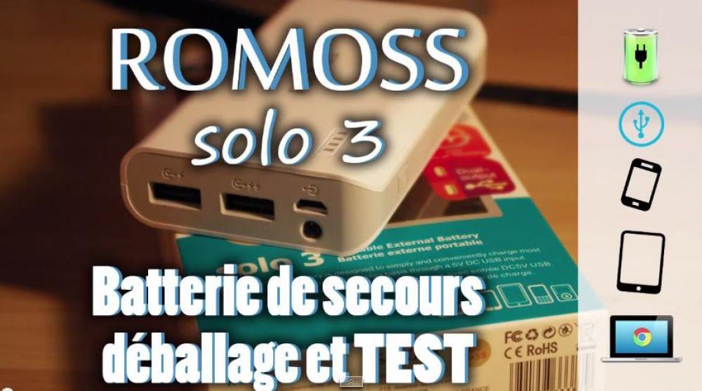 Image de couverture de Test de la batterie d'appoint 6000mAh Romoss Solo 3