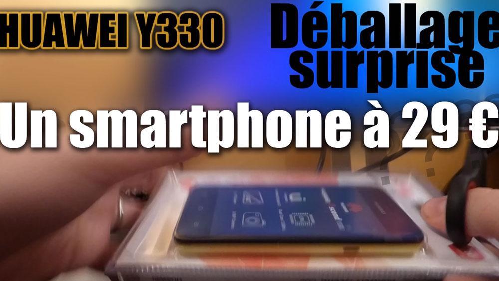 Image de couverture de Huawei Y330- Déballage et Test