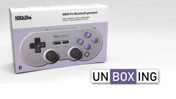 Image de couverture de [Unboxing] Manette Bluetooth 8BitDo SN30 Pro pour Switch, PC, Mac, Android, Linux