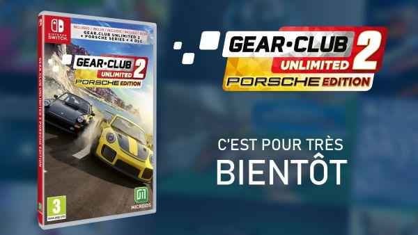 Image de couverture de Gear.Club Unlimited 2 Porsche Edition sur Switch, c'est pour le 14 novembre !