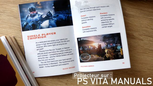 Vita manuals, un passionné de PS Vita crée des manuels de jeux manquants