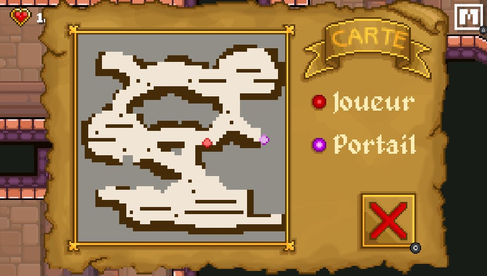Carte plan des niveaux