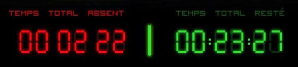 Les 2 compteurs, rouge à gauche, vert à droite