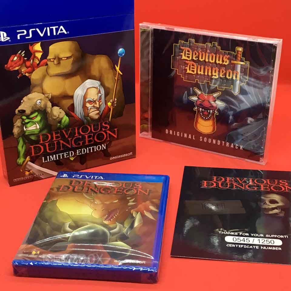 devious dungeon limited edition ps vita